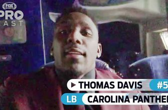Panthers LB Thomas Davis is en route to TNF and he's ready to go