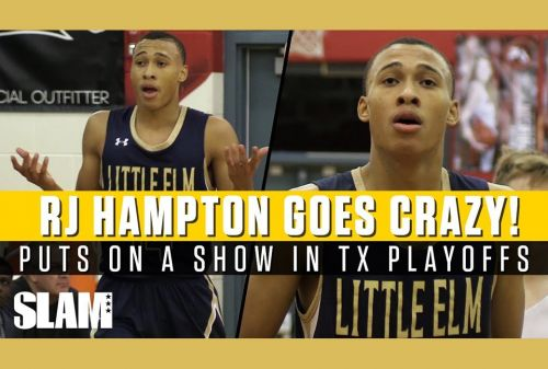 RJ Hampton GOES CRAZY in FIRST PLAYOFF GAME!! 🔥