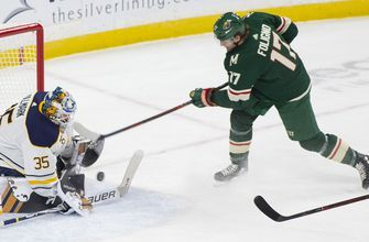 Pominville's goal completes comeback as Sabers beat Wild 3-2