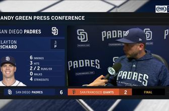 Andy Green discusses Richard's performance and the timely hitting that led to the win
