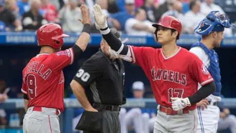 Ohtani, Trout shine as Angels hammer Blue Jays' struggling pitcher