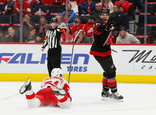 Ferland, Martinook, Faulk send Hurricanes past Red Wings 3-1