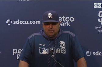 Padres interim manager Rod Barajas discusses the 4-2 loss