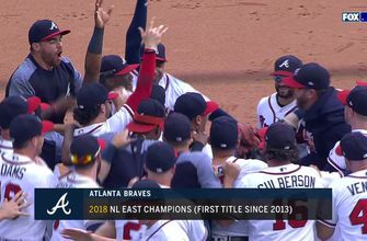 The Braves clinch the NL East: Watch the final out and their epic celebration