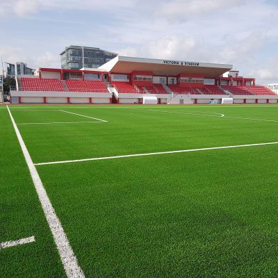 Gibraltar's Victoria Stadium football pitch gets a fresh look