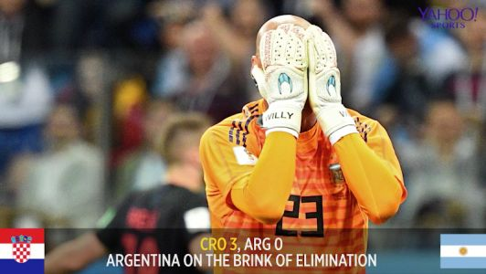 Argentina could face elimination after losing to Croatia, 3-0
