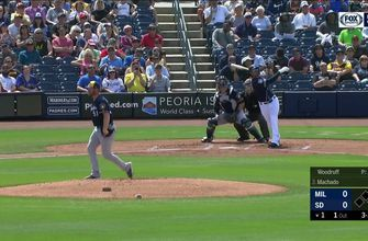 HIGHLIGHTS: Manny Machado, Wil Myers hit home runs in spring loss to Brewers