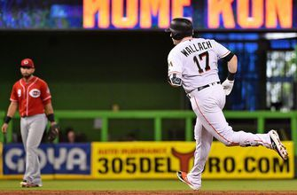 Rookie Chad Wallach hits first major league home run in Marlins' shutout win over Reds