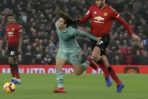 Watch: Manchester United's Marouane Fellaini drags down midfielder by his hair