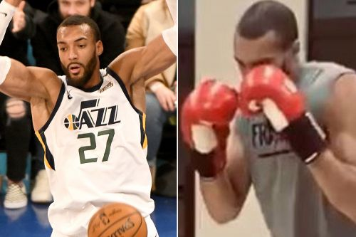 Rudy Gobert goes hard in the gym after beating coronavirus