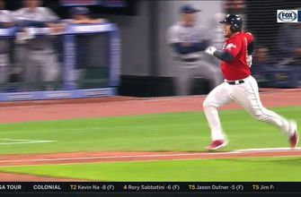 WATCH: Perez puts it in play, runs like the wind to score Frankie & take lead over Rays