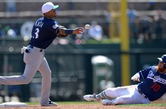 Hiura's bases-clearing double hands Brewers 9-8 win