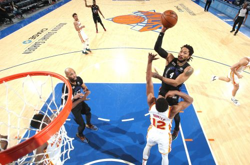 Knicks rally past Hawks to even NBA playoff series