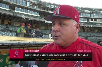 Mike Scioscia says Tyler Skaggs as grown as pitcher in 2018