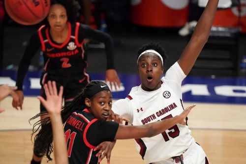 No. 7 Gamecocks win SEC Tourney 67-62 over No. 16 Georgia