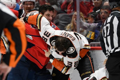 Capitals-Ducks melee: Garnet Hathaway spits at Erik Gudbranson, receives match penalty