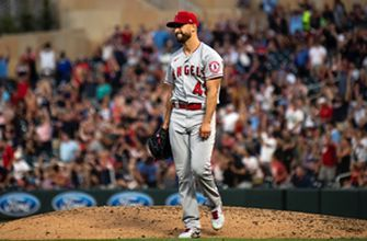Patrick Sandoval loses no-no bid in ninth, Angels hold on, 2-1, over Twins