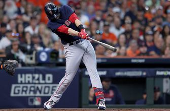 J.D. Martinez's grand slam gives Red Sox an early lead against Astros, 4-0