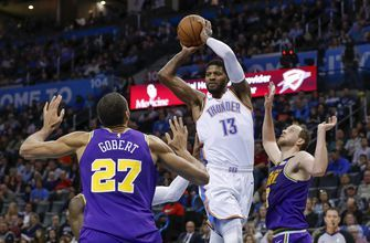 George has 31 as Thunder roll by Jazz in playoff reprise
