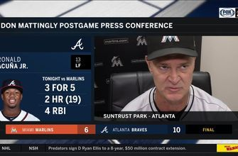 Don Mattingly on back-and-forth game, struggling to contain Ronald Acuna Jr
