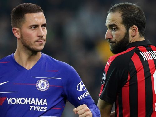 Higuain joining Chelsea will finally put an end to Hazard's false nine nightmare