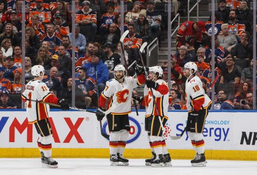 Flames stay hot with 5-2 victory over Oilers