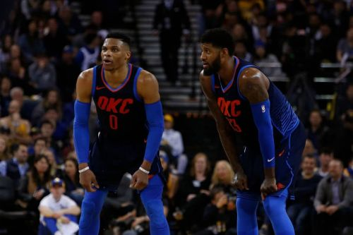 Russell Westbrook 'Very, Very Excited' About Paul George Re-Signing