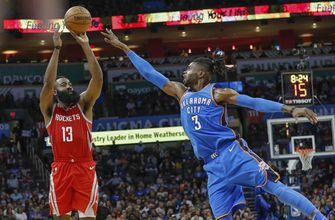 Westbrook-less Thunder beat Rockets for 7th straight win