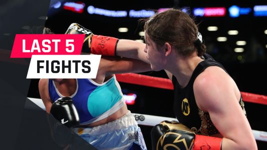 Katie Taylor's last five fights