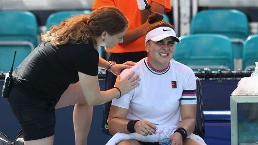 Injured Bianca Andreescu retires in Miami to put Anett Kontaveit through