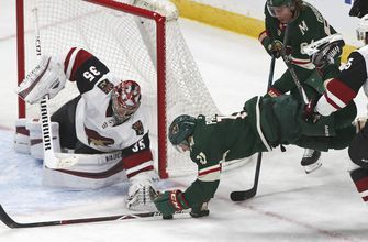 Staal, Dubnyk lead Wild past Arizona 2-1