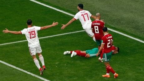 Own goal in injury time lifts Iran over Morocco at World Cup