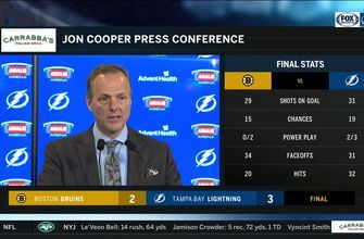 Jon Cooper breaks down Lightning's win over Bruins