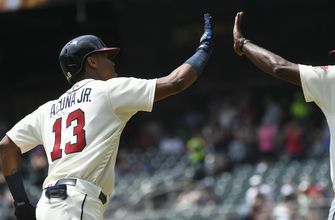 Braves' Acuna leads off each half of doubleheader with homer