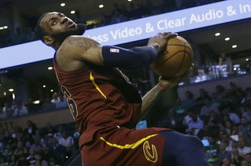LeBron James' vicious two-handed reverse dunk helps Cavaliers build big lead in Game 3