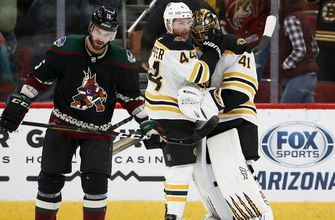 Ailing Coyotes fall behind early, can't recover vs. Bruins