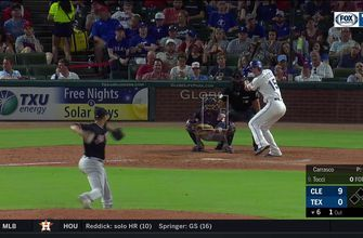 WATCH: Carlos Tocci hits into 1st Career Triple | Indians at Rangers