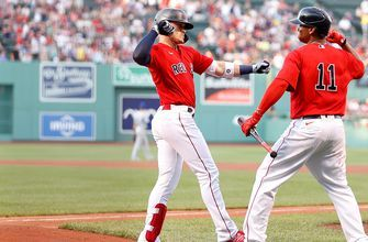Red Sox hit four home runs sweeping Royals with 15-1 win