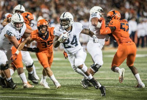 Sanders, McSorley lead No. 10 Penn State over Illinois 63-24