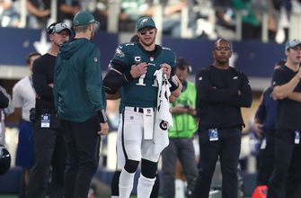 Eagles Carson Wentz' stress fracture leaves doubt heading into showdown with Rams