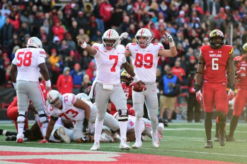 No. 8 Ohio State keeps playoff hopes alive by surviving at Maryland in overtime 52-51