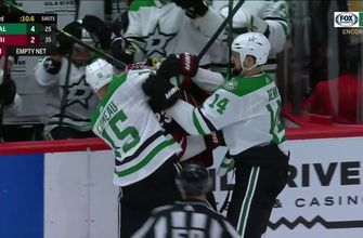 WATCH: Jamie Benn Scrum at the end of the Game | Stars ENCORE