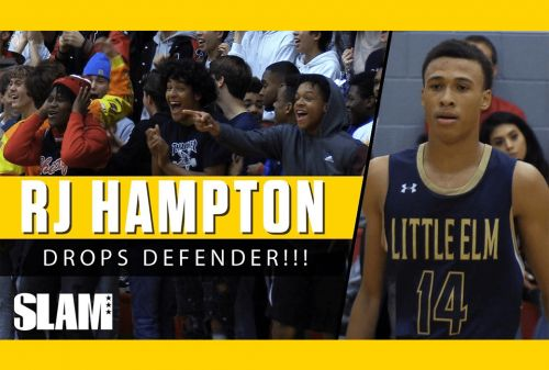 RJ Hampton Makes Defender TOUCH EARTH!!! 🌎 | SLAM Highlights