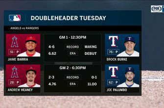 Setting up for the Double-Header with the Angels | Rangers Live