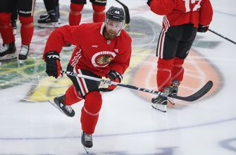 Blackhawks' de Haan misses practice due to family emergency
