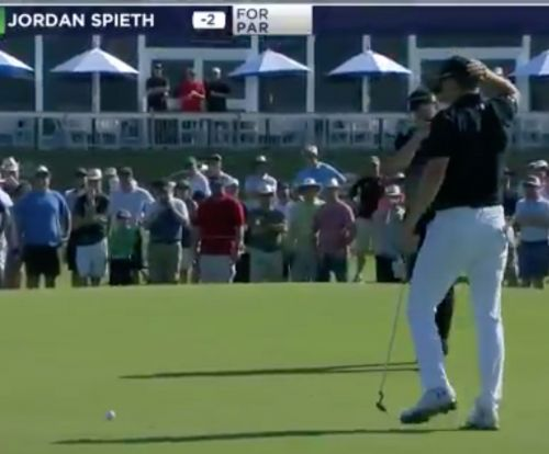 Watch Jordan Spieth miss tap-in putt as short-putting woes continue at AT&T Byron Nelson