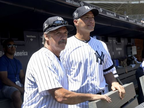 Go get 'em, Gramps! Pettitte debuts at Yanks Old-Timers' Day