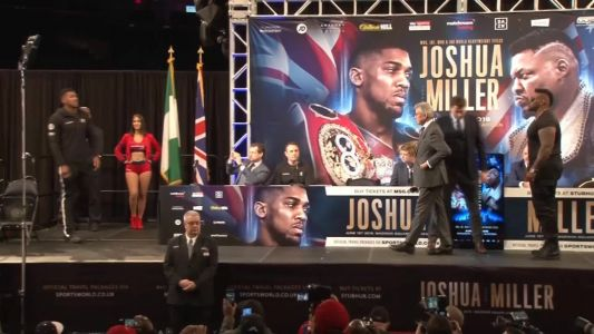 'Big Baby' Miller pushes champion Joshua at New York face-off