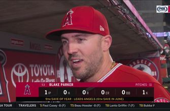 Blake Parker can't contain excitement about settling into Angels closer role