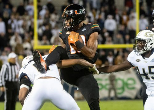 Marshall leads Georgia Tech past fumble-prone Miami, 27-21
